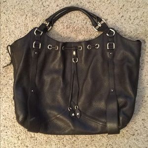 COLE HAAN ALESSA LEATHER DRAWSTRING HOBO PURSE NEW